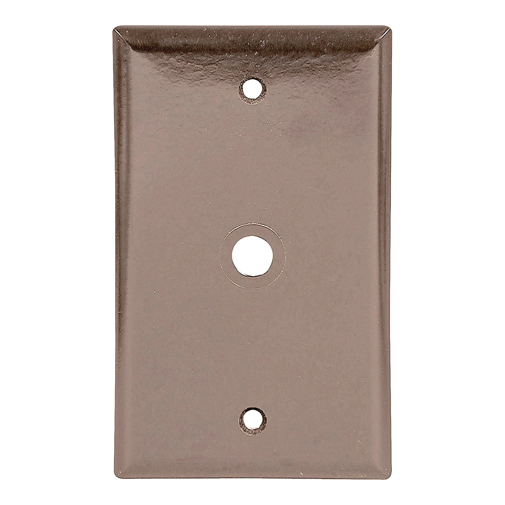 Picture of Eaton Wiring Devices 2128 Series 2128B-BOX Wallplate, 4-1/2 in L, 2-3/4 in W, 1-Gang, Thermoset, Brown
