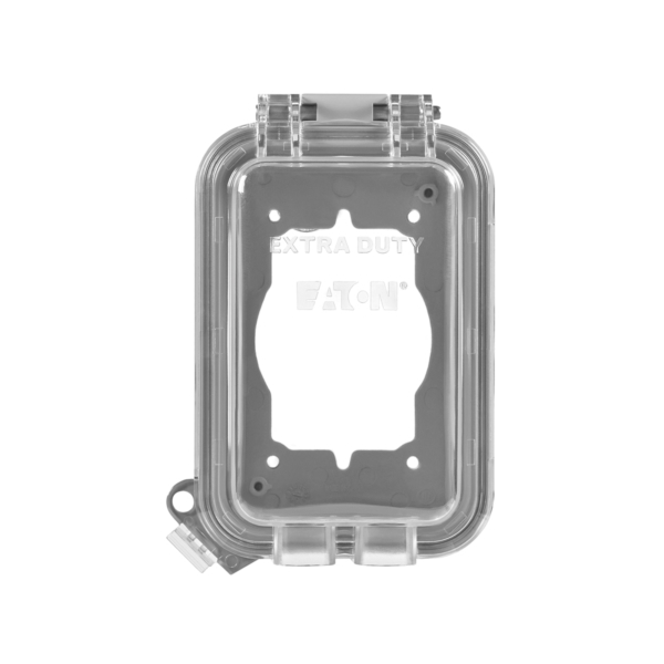 Picture of Eaton Wiring Devices WIU-1 Cover, 3-1/4 in L, 4-29/64 in W, Rectangular, Polycarbonate, Gray