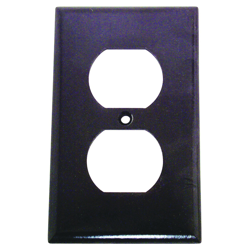 Picture of Eaton Wiring Devices 2132B-BOX Duplex Receptacle Wallplate, 4-1/2 in L, 2-3/4 in W, 1-Gang, Thermoset, Brown