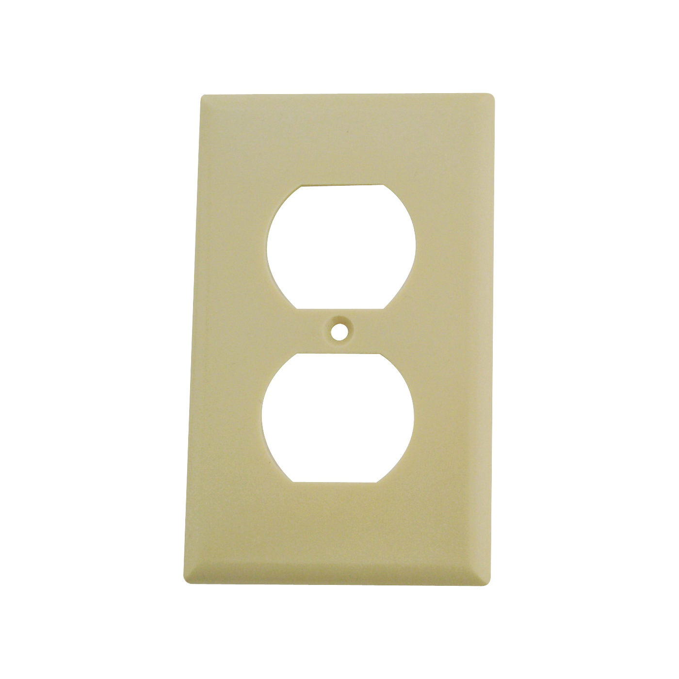 Picture of Eaton Wiring Devices 2132V-BOX Duplex Receptacle Wallplate, 4-1/2 in L, 2-3/4 in W, 1-Gang, Thermoset, Ivory
