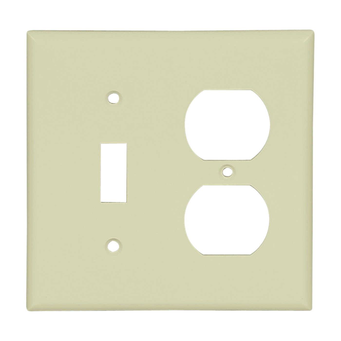 Picture of Eaton Wiring Devices 2138V-BOX Wallplate, 4-1/2 in L, 4-9/16 in W, 2-Gang, Thermoset, Ivory, High-Gloss