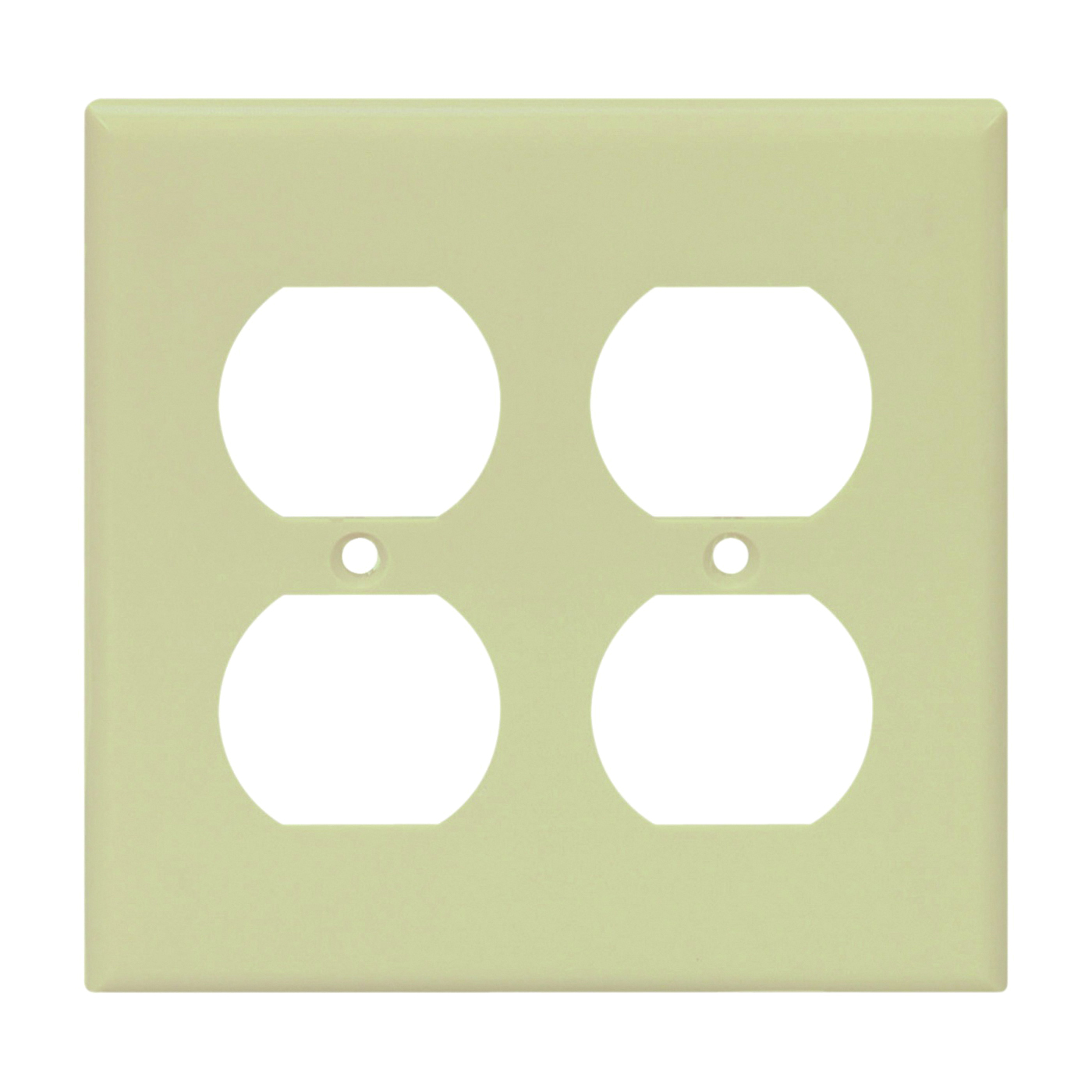 Picture of Eaton Wiring Devices 2150V-BOX Duplex Receptacle Wallplate, 4-1/2 in L, 4-9/16 in W, 2-Gang, Thermoset, Ivory