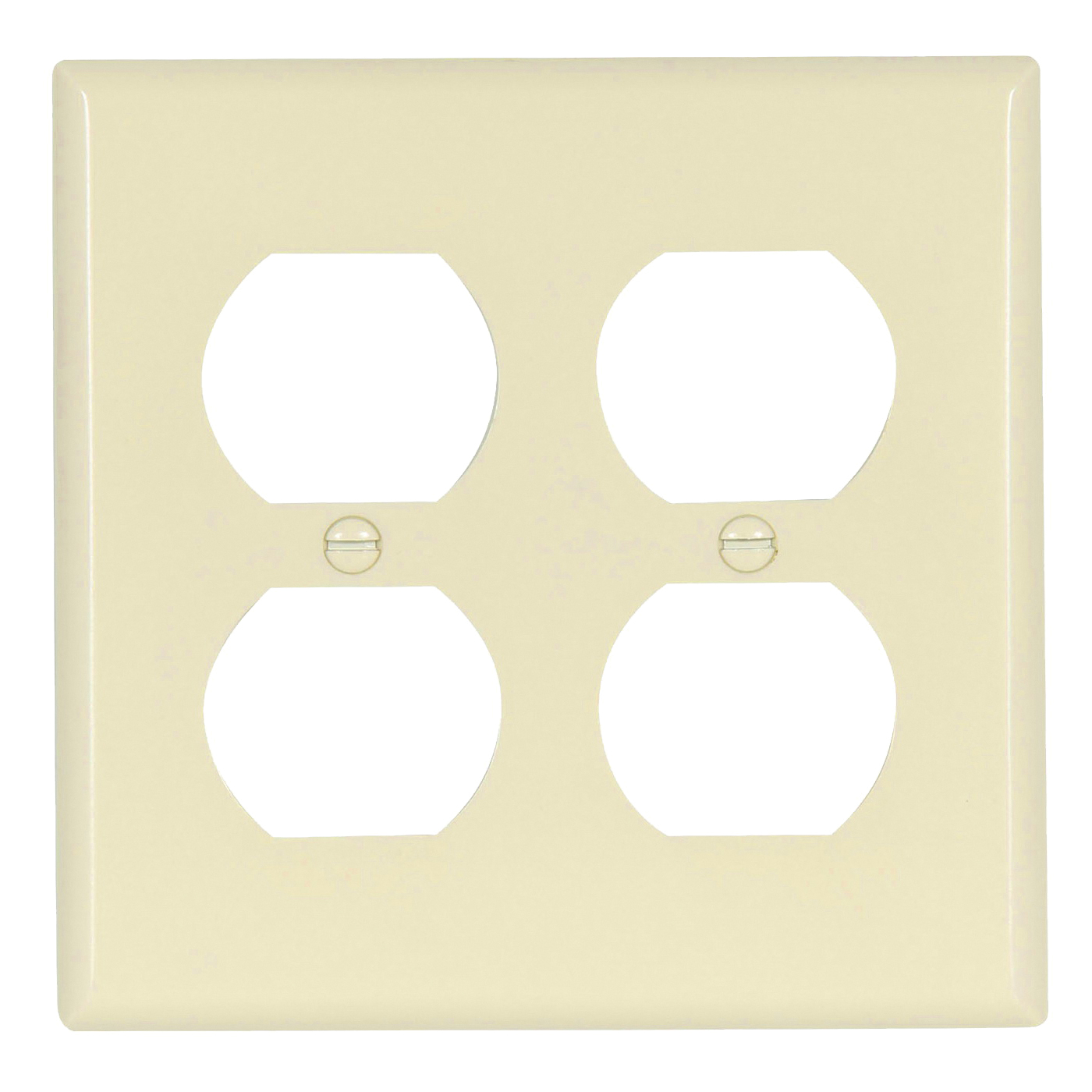 Picture of Eaton Wiring Devices 2150LA-BOX Duplex Receptacle Wallplate, 4-1/2 in L, 4-9/16 in W, 2-Gang, Thermoset