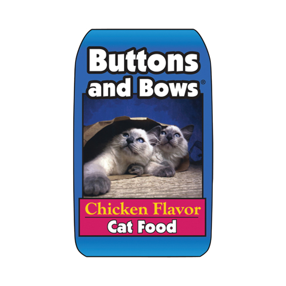 Picture of Buttons and Bows 10019/70155 Cat Food, Dry Chicken Flavor, 40 lb Package, Bag