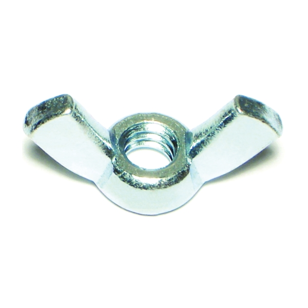 Picture of MIDWEST FASTENER 03804 Wing Nut, Cold Forged, Coarse Thread, 1/4-20 in Thread, Steel, Zinc
