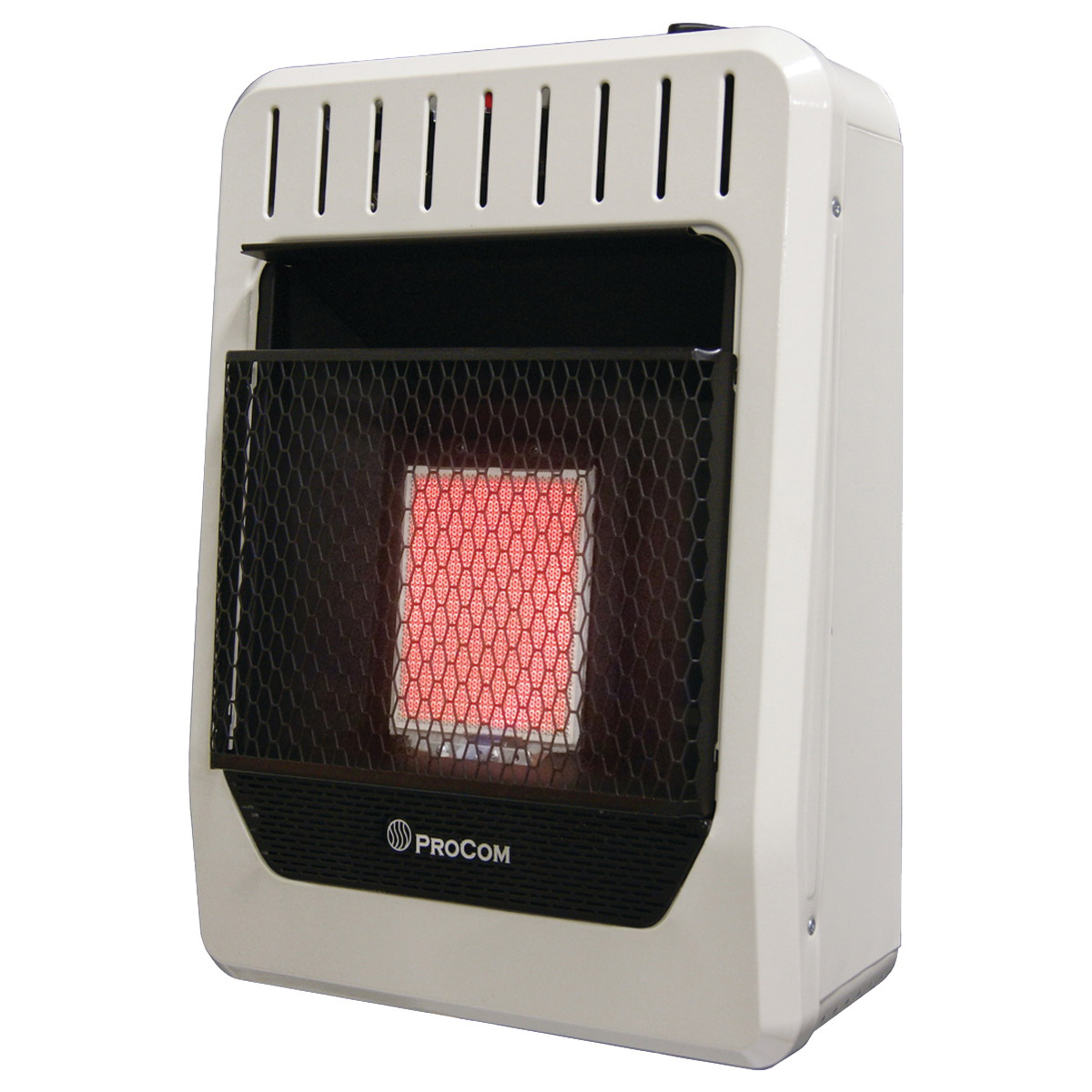 Picture of PROCOM HEATING MG1TIR Ventless Dual Fuel Heater, 15.79 in W, 21.2 in H, 10,000 Btu Heating, Natural Gas, Propane