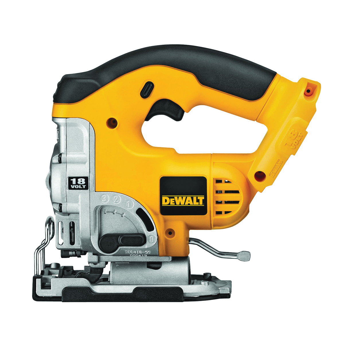 Picture of DeWALT DC330B Jig Saw, Bare Tool, 18 V Battery, 2.4 Ah, 1 in L Stroke, 0 to 3000 spm SPM, Battery Included: No