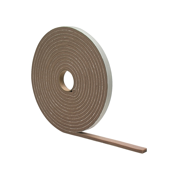 Picture of M-D 02816 Foam Tape, 1/2 in W, 17 ft L, 1/4 in Thick, PVC, Brown