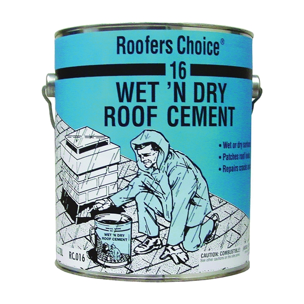Picture of Henry Roofers Choice 16 Series RC016042 Roof Cement, Liquid, Paste, Petrol, Black, 0.9 gal Package, Pail