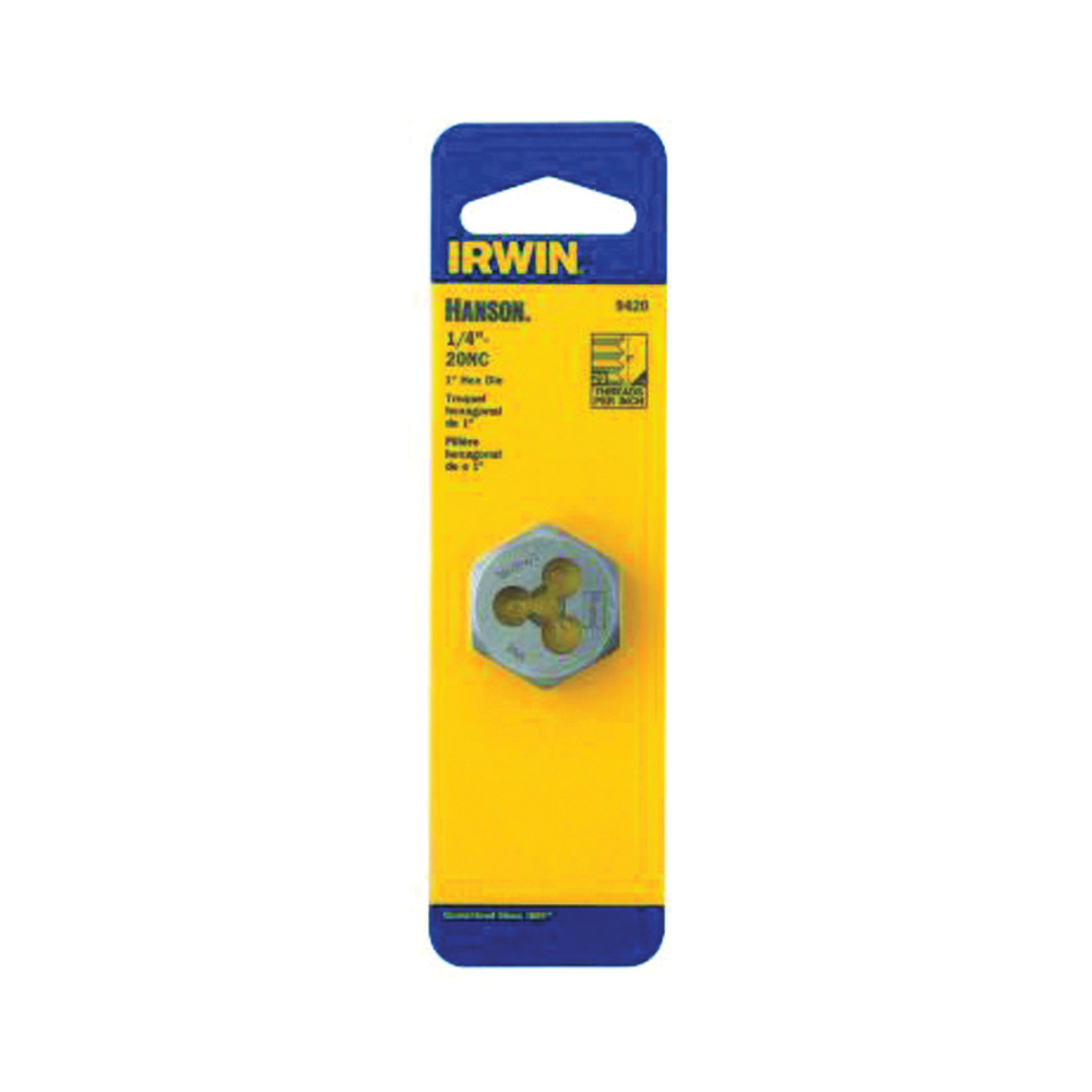 Picture of IRWIN 9423 Machine Screw Dies, 1/4-28 Thread, NF Thread, Right Hand Thread, HCS