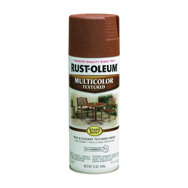 Picture of RUST-OLEUM STOPS RUST 239122 Textured Spray Rustic Umber, Solvent-Like, Rustic Umber, 12 oz, Aerosol Can