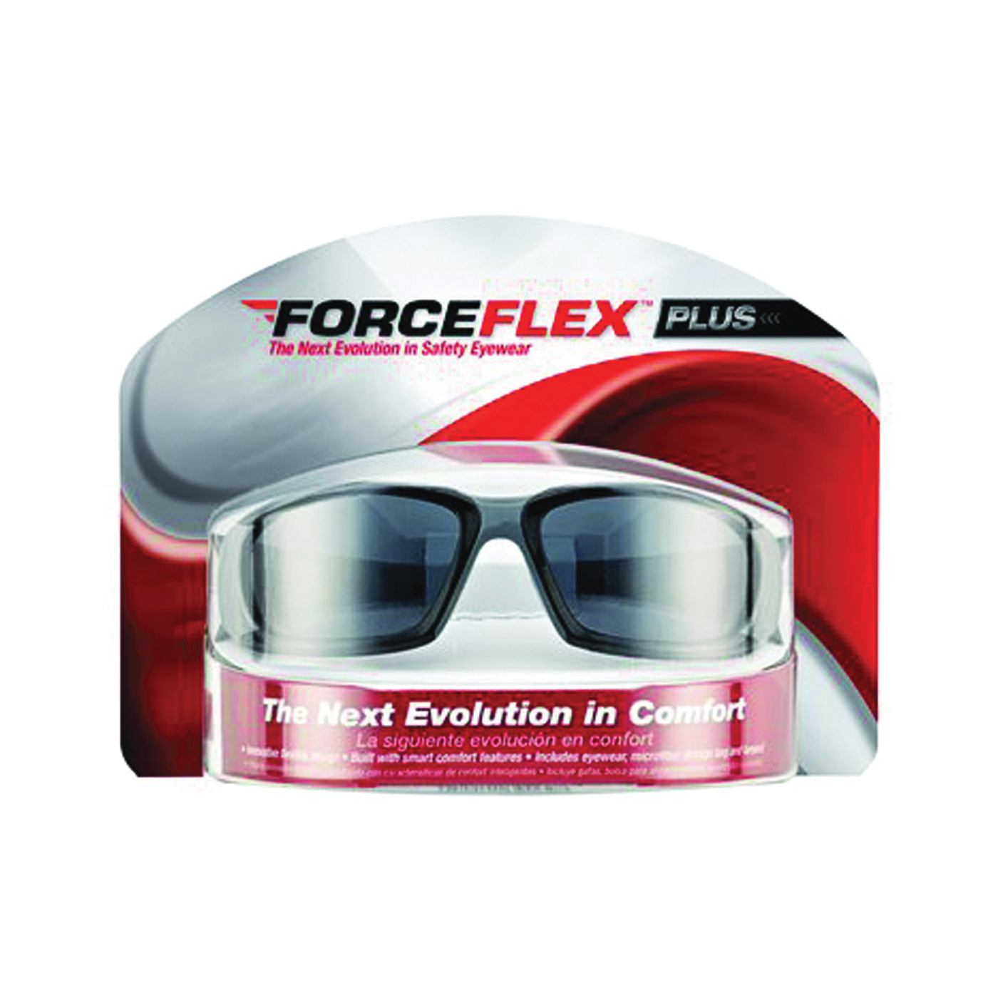 Picture of 3M ForceFlex Plus 92235-WZ4 Safety Glasses, Anti-Scratch Lens, Black/Gray Frame