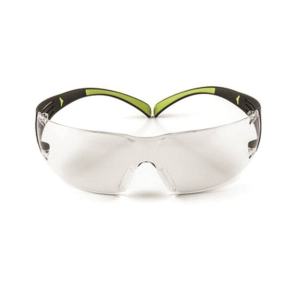 Picture of 3M SF400C-WV-6 Safety Eyewear, Anti-Fog, Scratch-Resistant Lens, Neon Green/Black Frame
