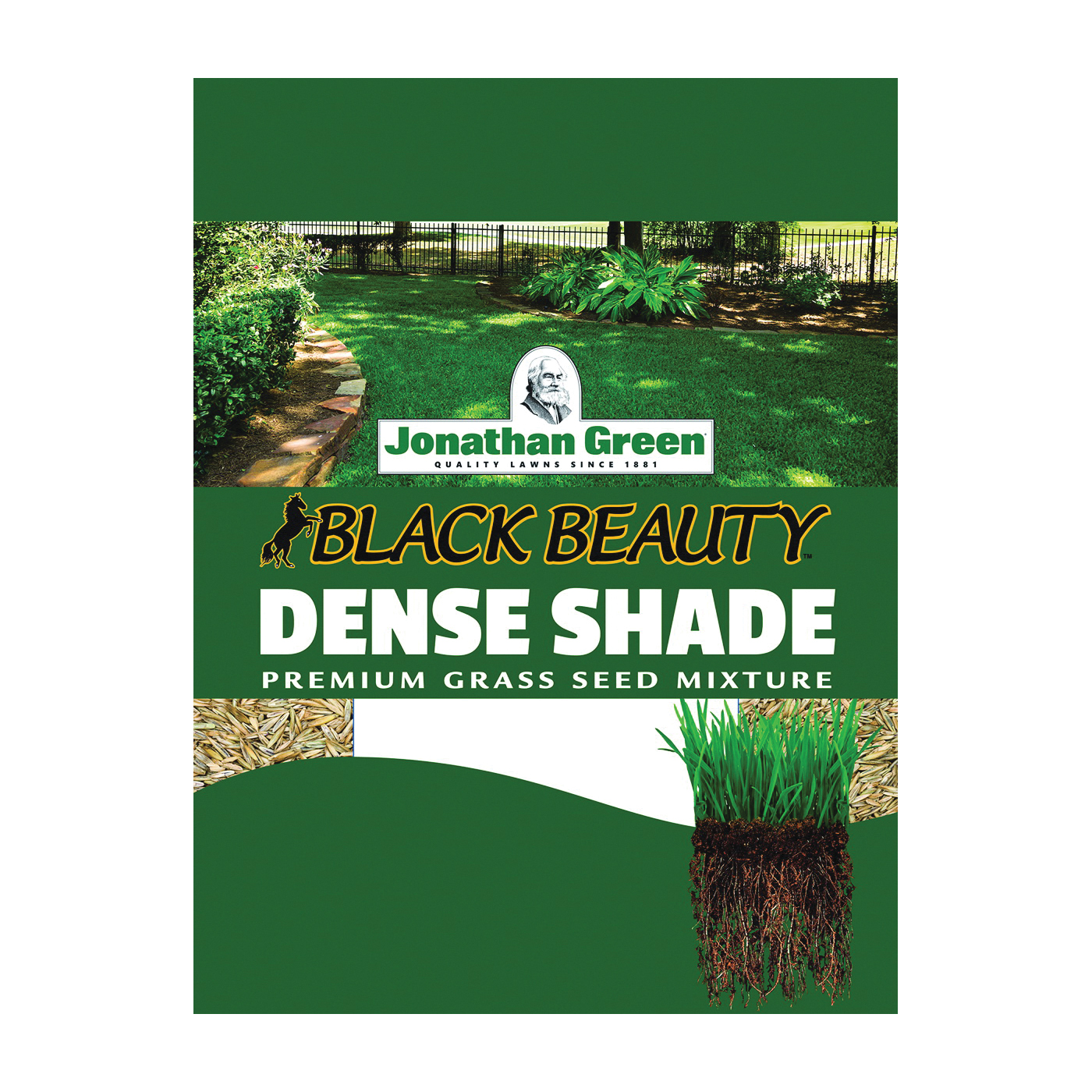 Picture of Jonathan Green Black Beauty 10622 Grass Seed, 1 lb Package, Bag