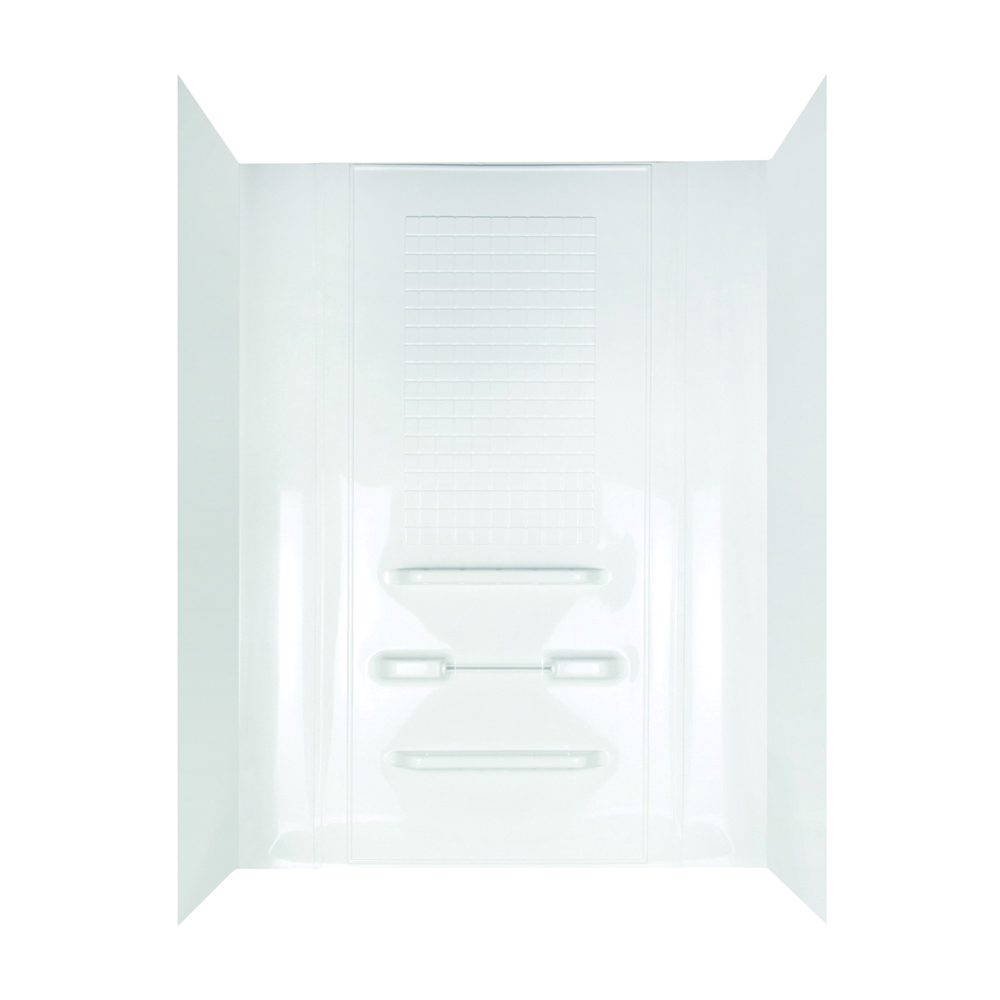 Picture of DELTA TW99440A Bathtub Wall Set, 78 in H, 53 in W, Polycomposite, White, Adhesive Installation, Tile Wall