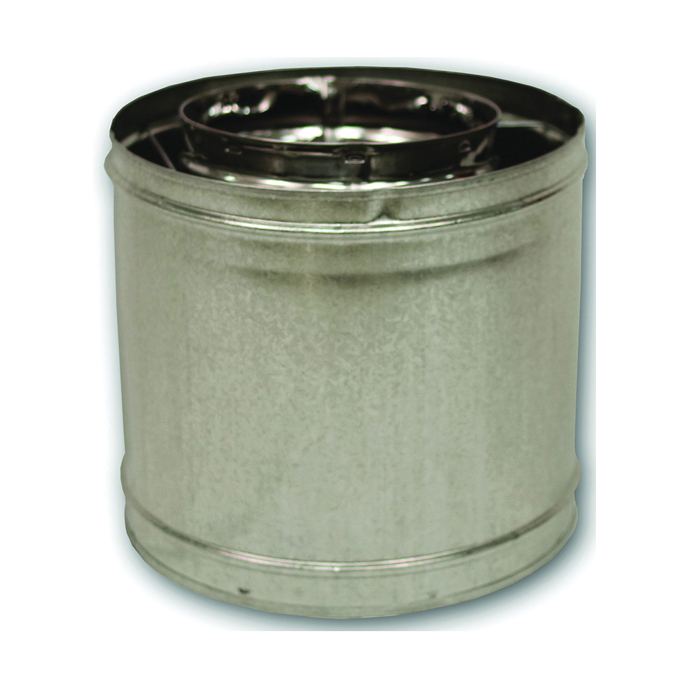 Picture of Comfort Flame 12-8DM Chimney Pipe, 12-3/8 in OD, 12 in L, Galvanized Steel