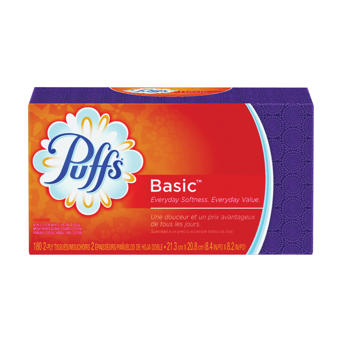 Picture of Puffs 87611 Facial Tissue, 8.4 in L, 8.2 in W, 2 -Ply, 24, Paper
