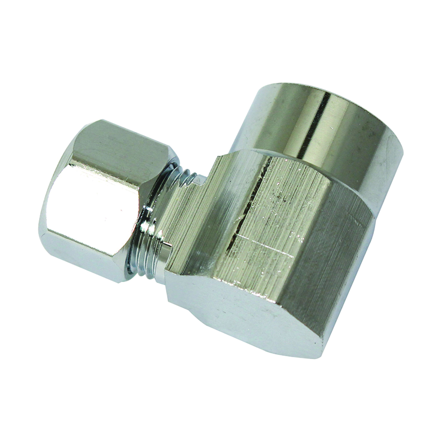Picture of Plumb Pak PP77PCLF Water Supply Connector, 1/2 x 3/8 in, Compression x Sweat, Chrome