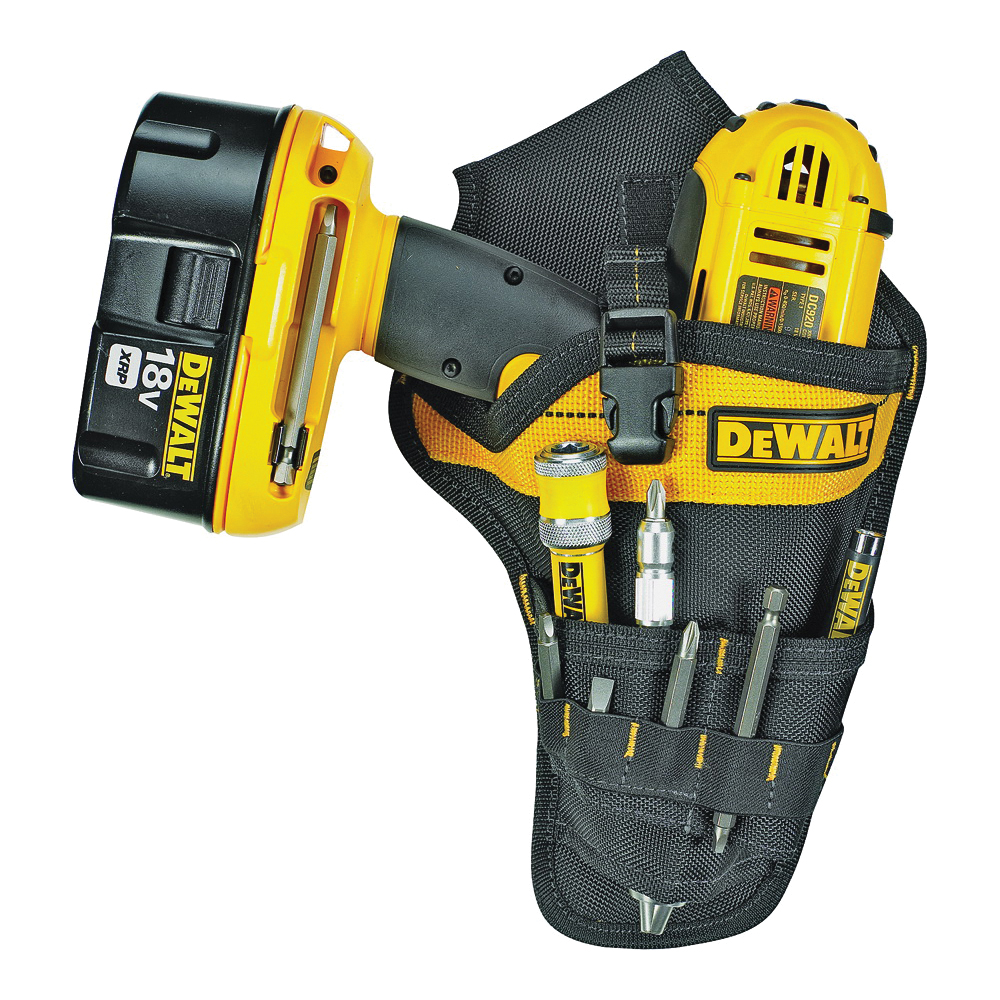 Picture of CLC DG5120 Drill Holster, 9 -Pocket, Ballistic Poly Fabric, Black/Yellow, 7-1/4 in W, 13-3/4 in H, 2-1/4 in D