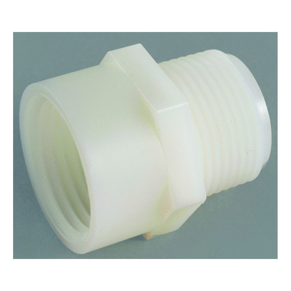Picture of Anderson Metals 53784-1212 Hose Adapter, 3/4 x 3/4 in, FGH x MGH, Nylon, For: Garden Hose