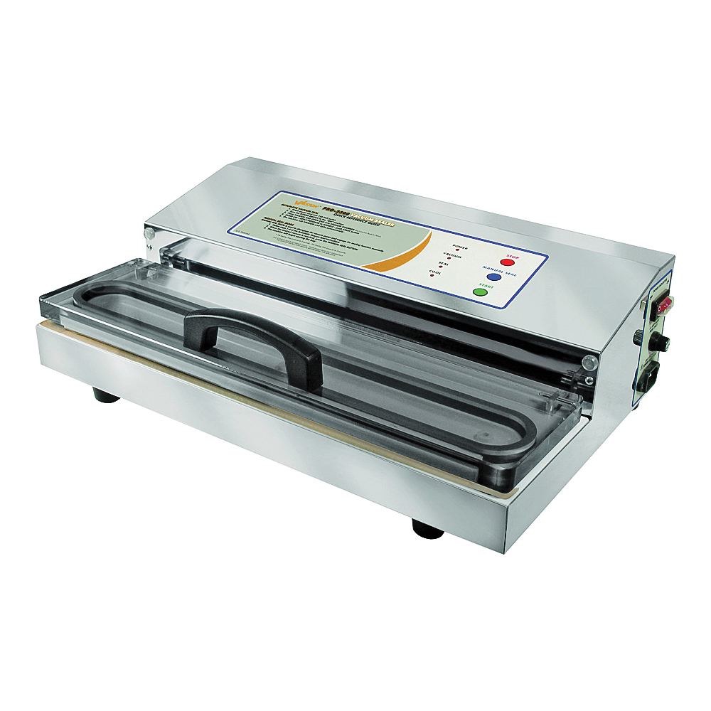 Picture of Weston Pro-2300 Series 65-0201 Vacuum Sealer with Large Bar, 15 in L Sealing Bar, 935 W, Stainless Steel
