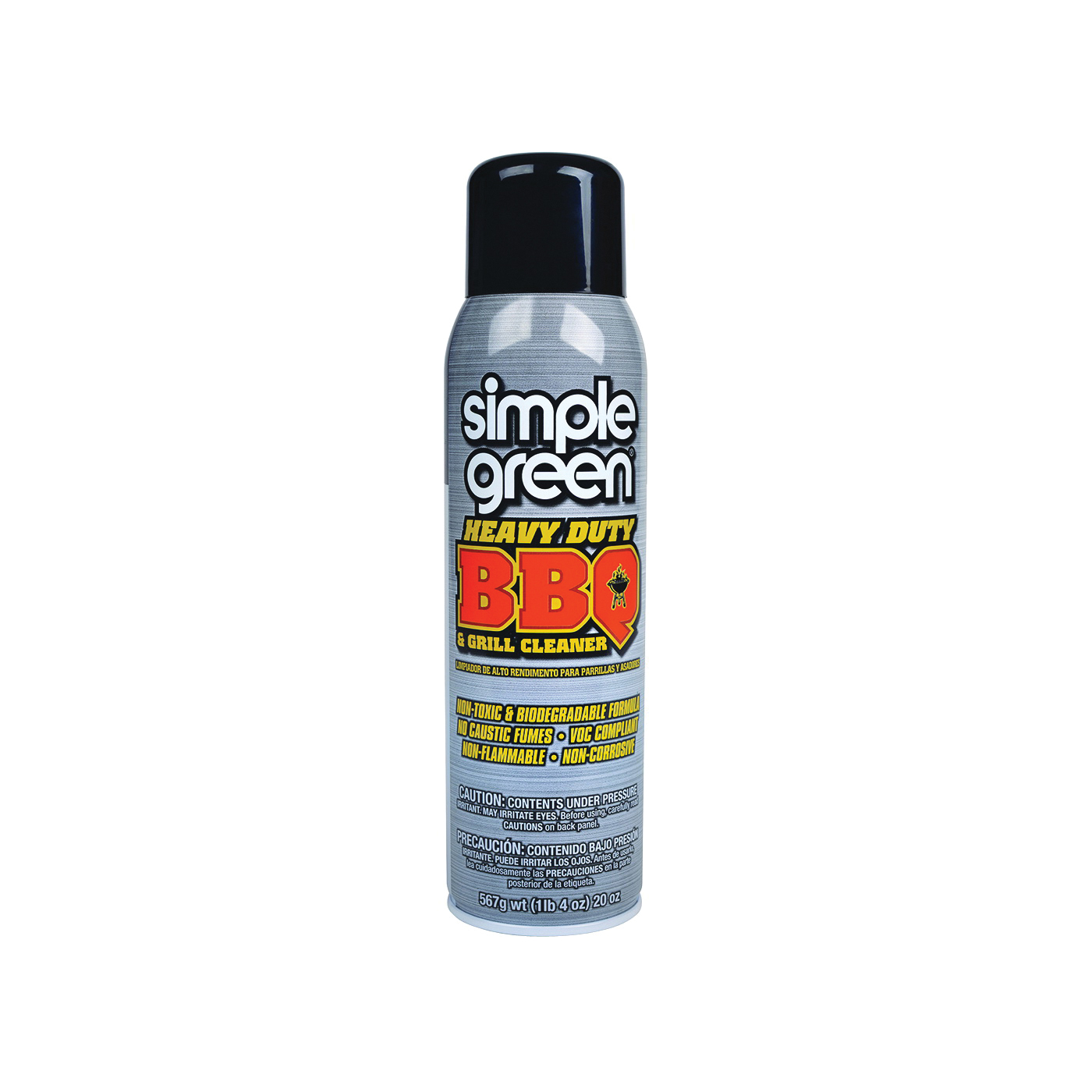 Picture of Simple Green 0310001260014 BBQ and Grill Cleaner, Foam, White, 20 oz Package, Aerosol Can