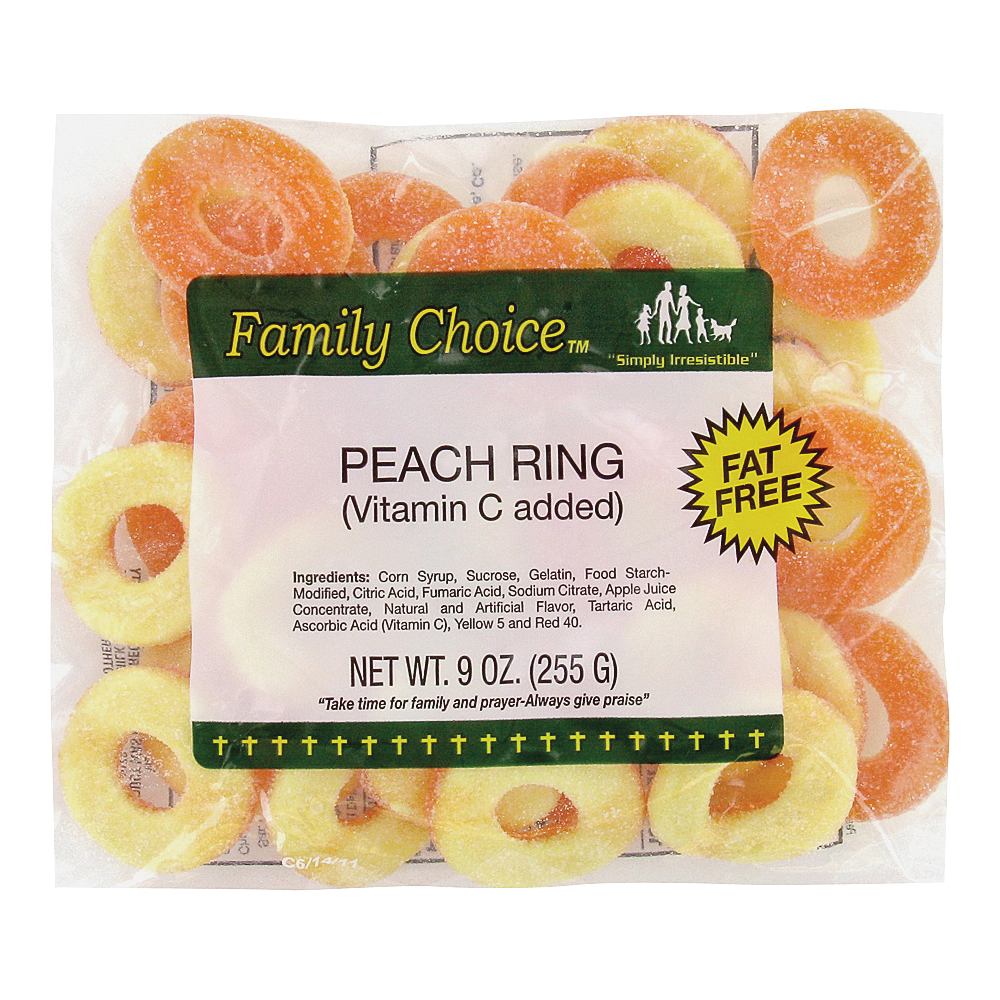 Picture of Family Choice 1129 Candy, Peach Flavor, 8 oz Package