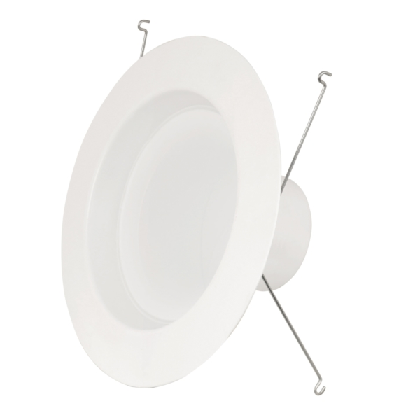 Picture of Feit Electric LEDR56/4WYCA Recessed Downlight, 11.3 W, 120 V, LED Lamp, Aluminum, White