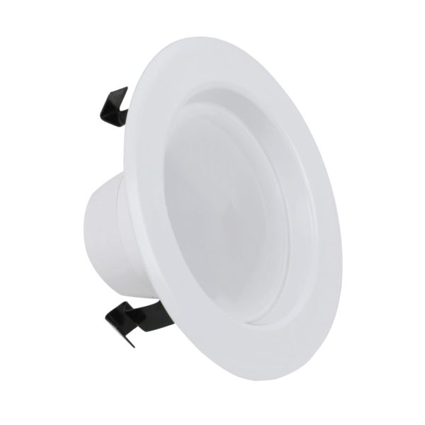 Picture of Feit Electric LEDR4/4WYCA Recessed Downlight, 7.2 W, 120 V, LED Lamp, Aluminum, White
