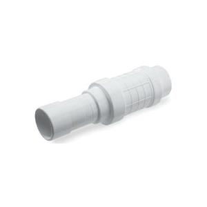 Picture of NDS Quik-Fix QF-3000 Pipe Repair Coupler, 3 in, Socket x Spigot, White, SCH 40 Schedule, 150 psi Pressure
