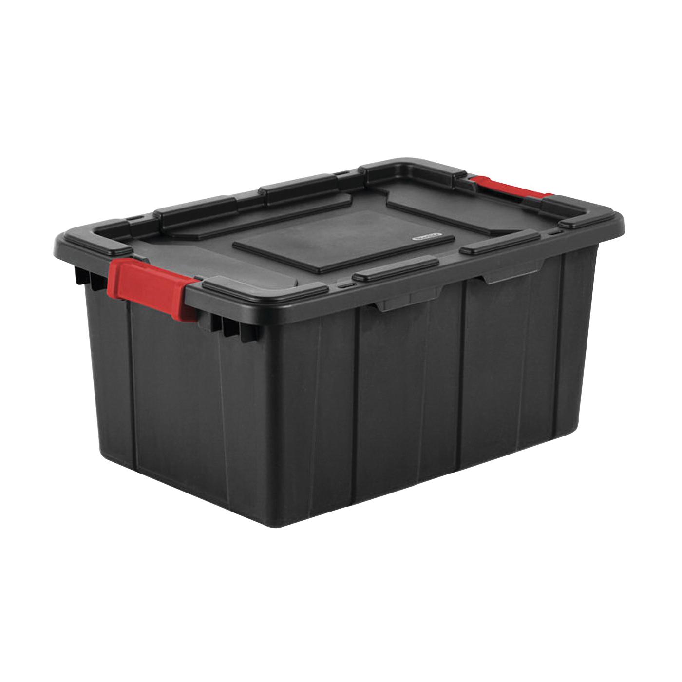 Picture of Sterilite 14649006 Industrial Tote, Plastic, Black, 25-3/4 in L, 17-1/4 in W, 11-7/8 in H