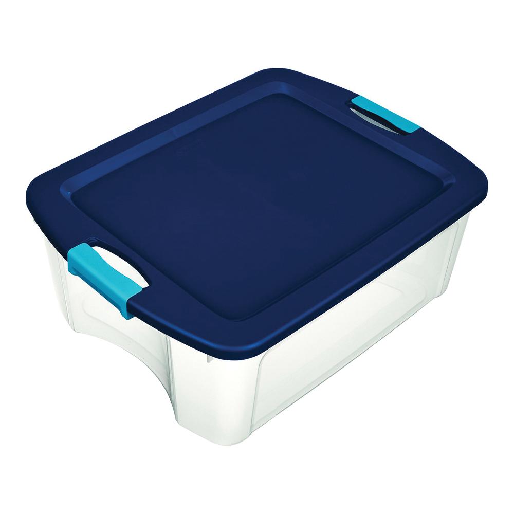 Picture of Sterilite 14449606 Carry Tote, Plastic, Clear, 23-5/8 in L, 18-5/8 in W, 9-1/4 in H