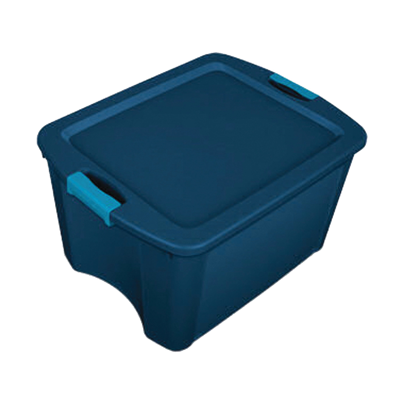 Picture of Sterilite 14467406 Carry Tote, Plastic, True Blue, 23-5/8 in L, 18-5/8 in W, 13-5/8 in H