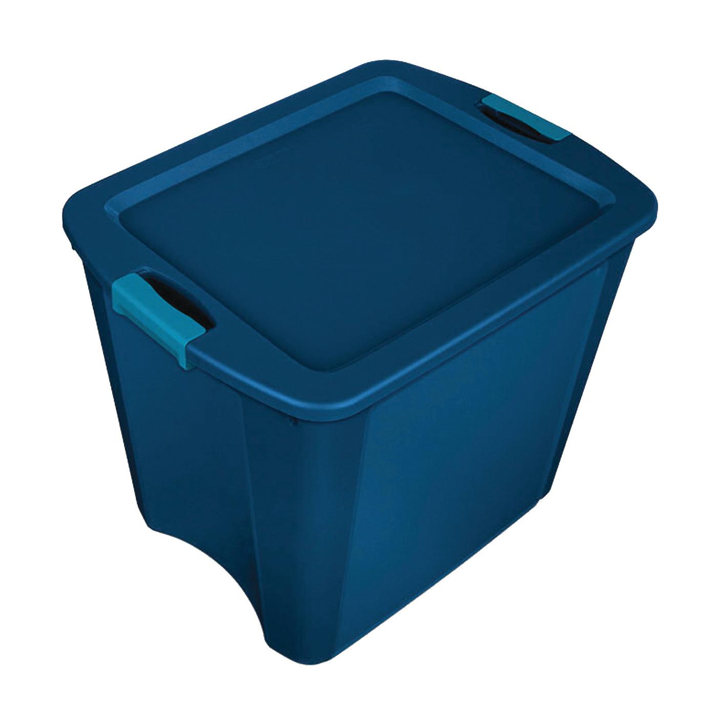 Picture of Sterilite 14487404 Carry Tote, Plastic, True Blue, 23-5/8 in L, 18-5/8 in W, 20-1/8 in H