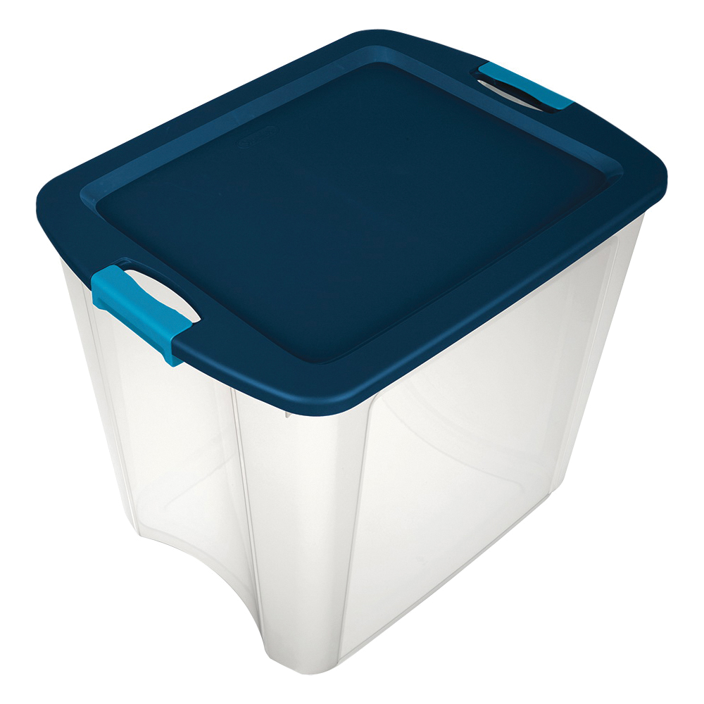 Picture of Sterilite 14489604 Carry Tote, Plastic, Clear, 23-5/8 in L, 18-5/8 in W, 20-1/8 in H