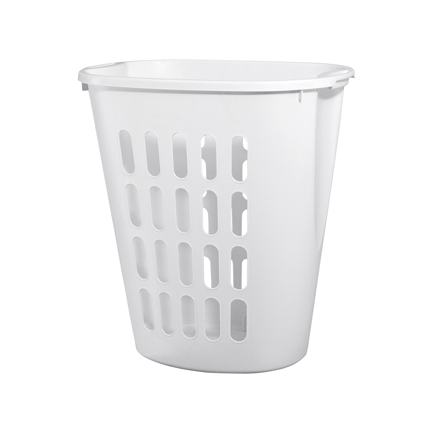 Picture of Sterilite 12568006 Open Laundry Hamper, 2.3 bu Capacity, White, 14-3/8 in W, 21-7/8 in H, 21 in D