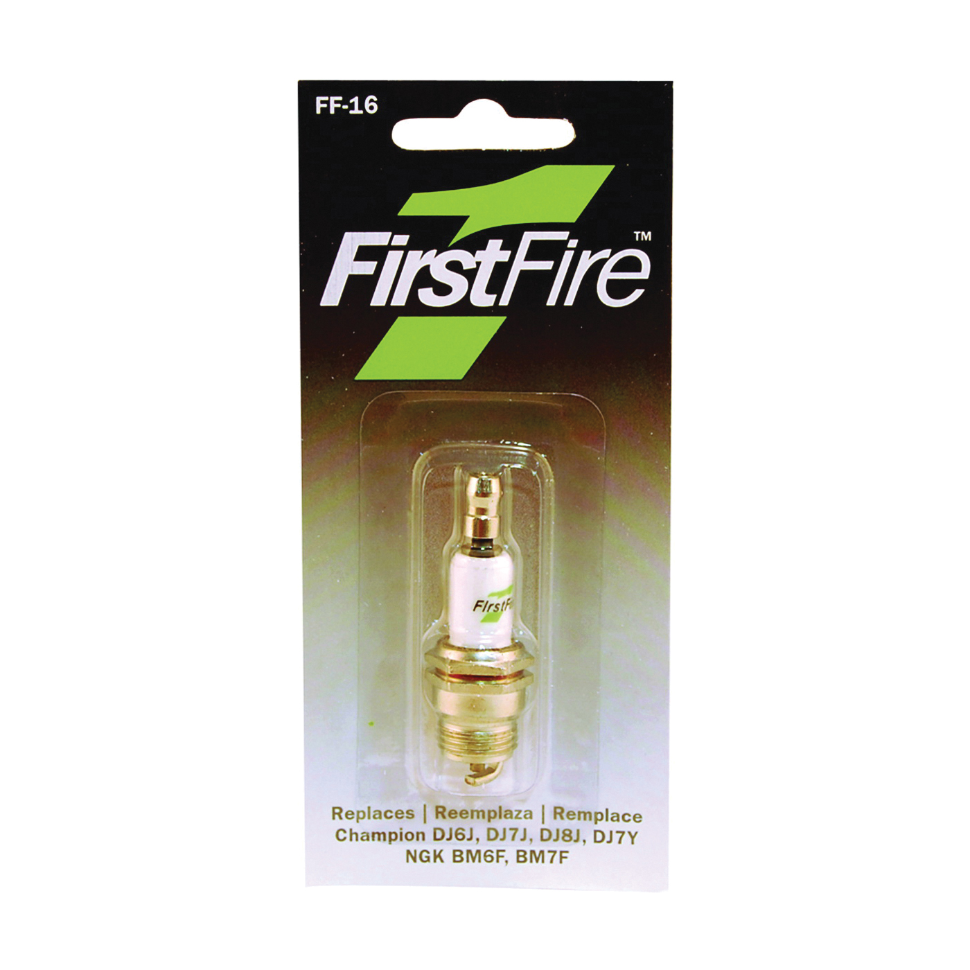 Picture of MTD FF-16 Spark Plug, 0.551 in Thread, 5/8 in Hex