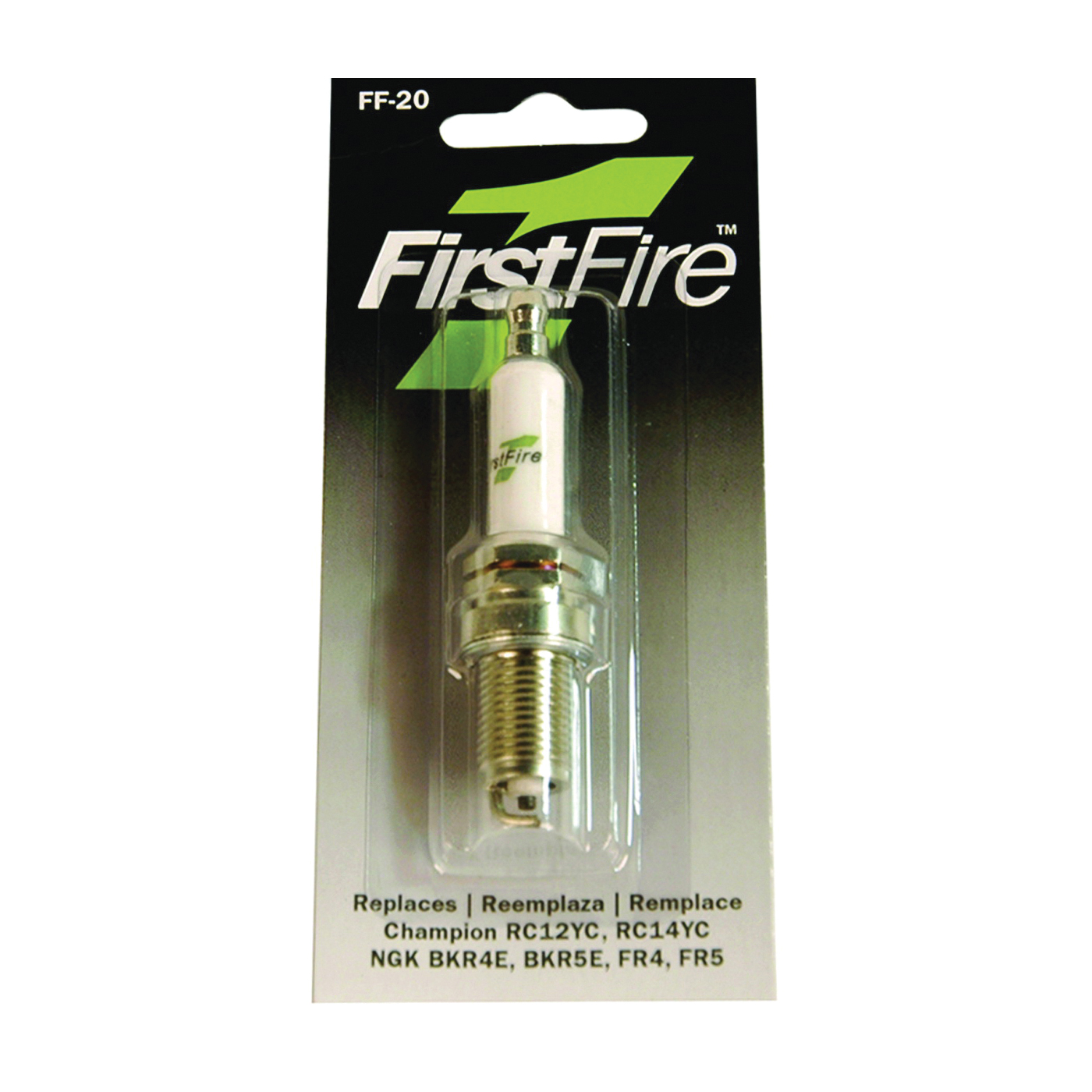 Picture of MTD FF-20 Spark Plug, 3/4 in Fill Gap, 0.551 in Thread, 5/8 in Hex