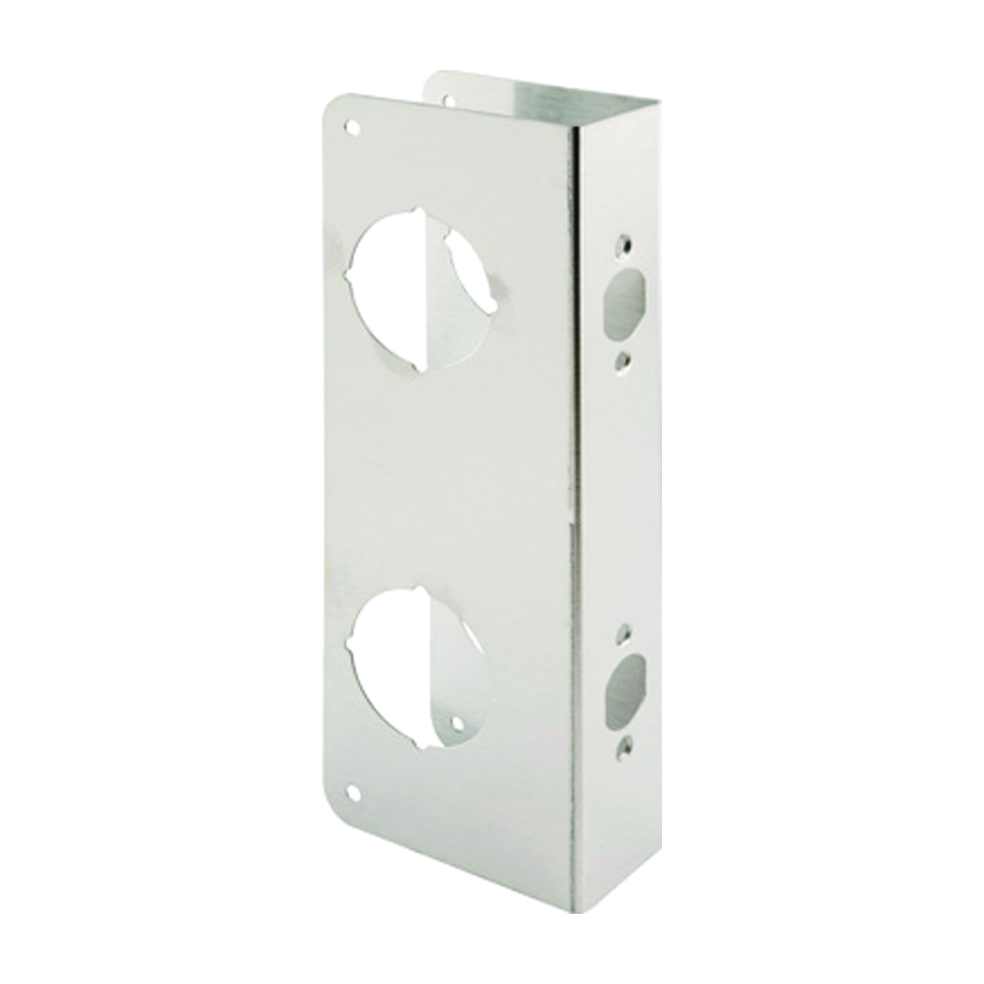 Picture of Prime-Line U 10539 Lock and Door Reinforcer, 2-3/8 in Backset, 1-3/4 in Thick Door, Stainless Steel, Stainless Steel