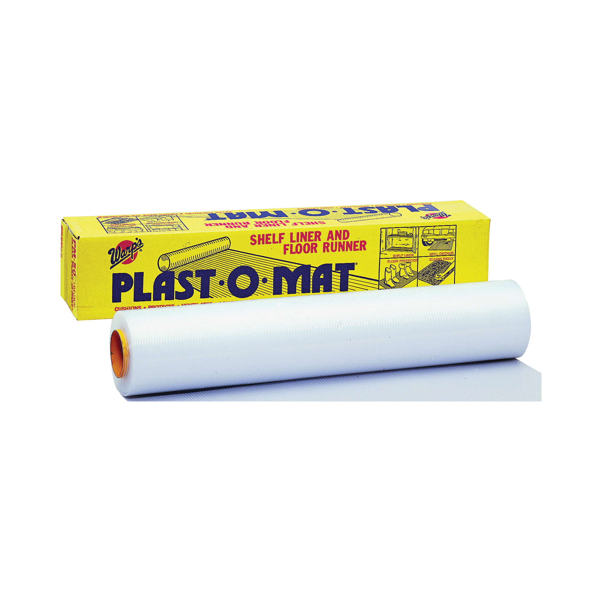 Picture of Warp's PM-50-W Floor Runner, 50 ft L, 30 in W, Plastic, Opaque White
