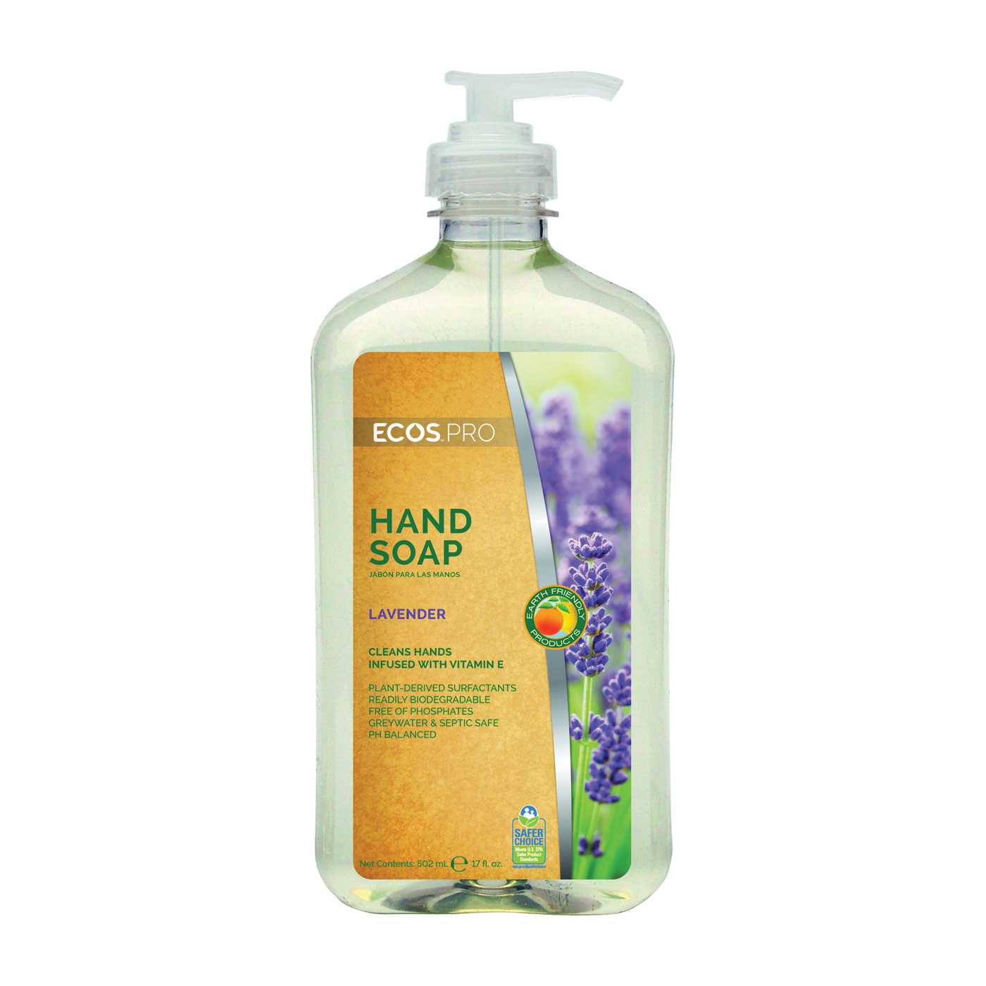 Picture of ECOS PL9665/6 Hand Soap Clear, Liquid, Clear, Lavender, 17 oz Package, Bottle