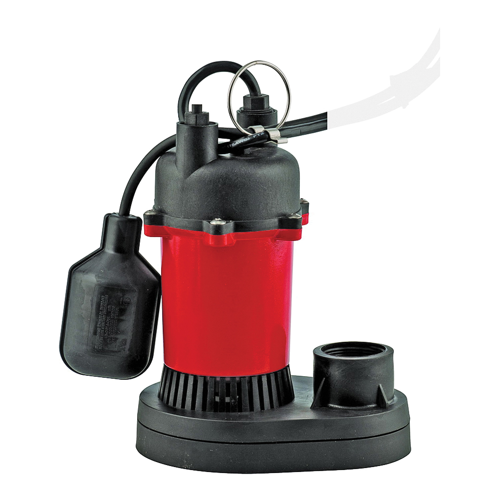 Picture of Red Lion RL-SP25T Series 14942739 Sump Pump, 1-Phase, 6 A, 115 V, 0.25 hp, 1-1/2 in Outlet, 23 ft Max Head