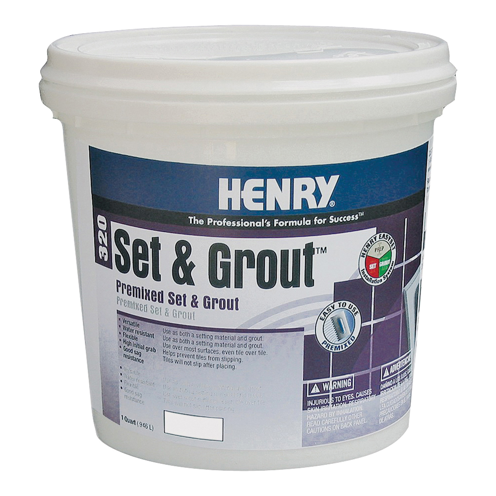 Picture of HENRY Set&Grout 12040 Adhesive and Grout, Paste, White, 1 gal Package, Tub
