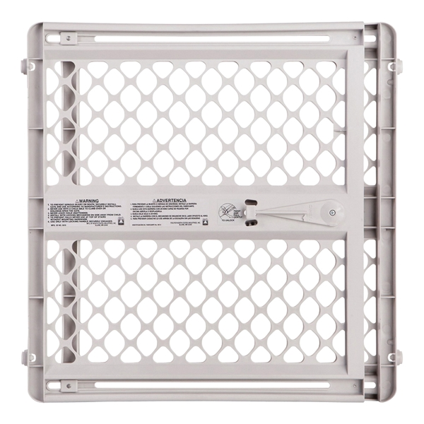 Picture of North States Supergate Classic 8615 Safety Gate, Plastic, Light Gray, 26 in H Dimensions