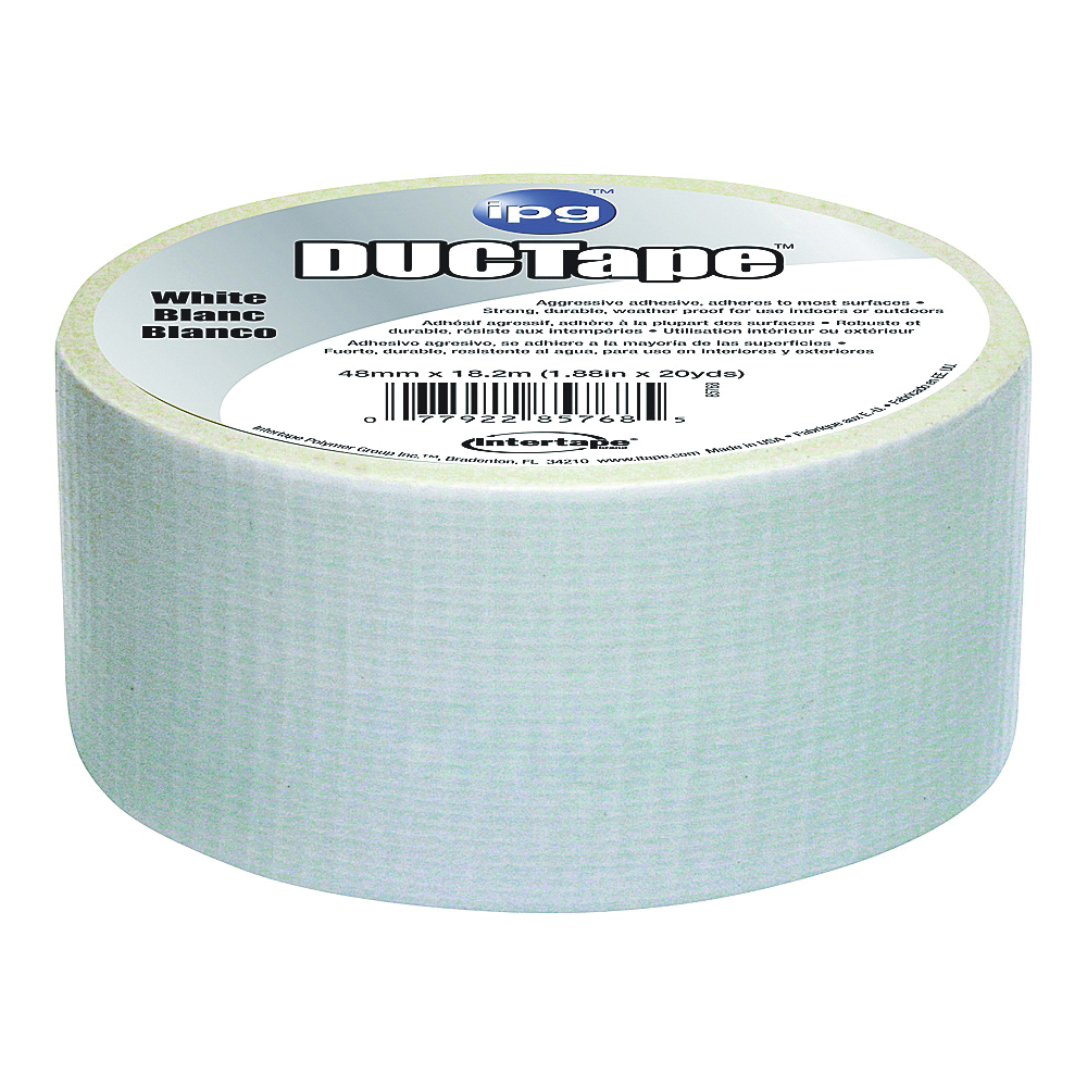 Picture of IPG 6720WHT Duct Tape, 20 yd L, 1.88 in W, Polyethylene-Coated Cloth Backing, White