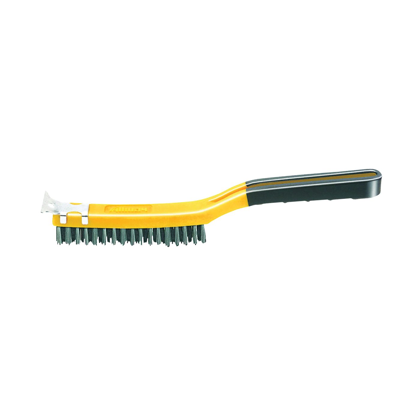 Picture of ALLWAY TOOLS SB319/SS Wire Brush with Scraper, Stainless Steel Bristle, 14 in OAL
