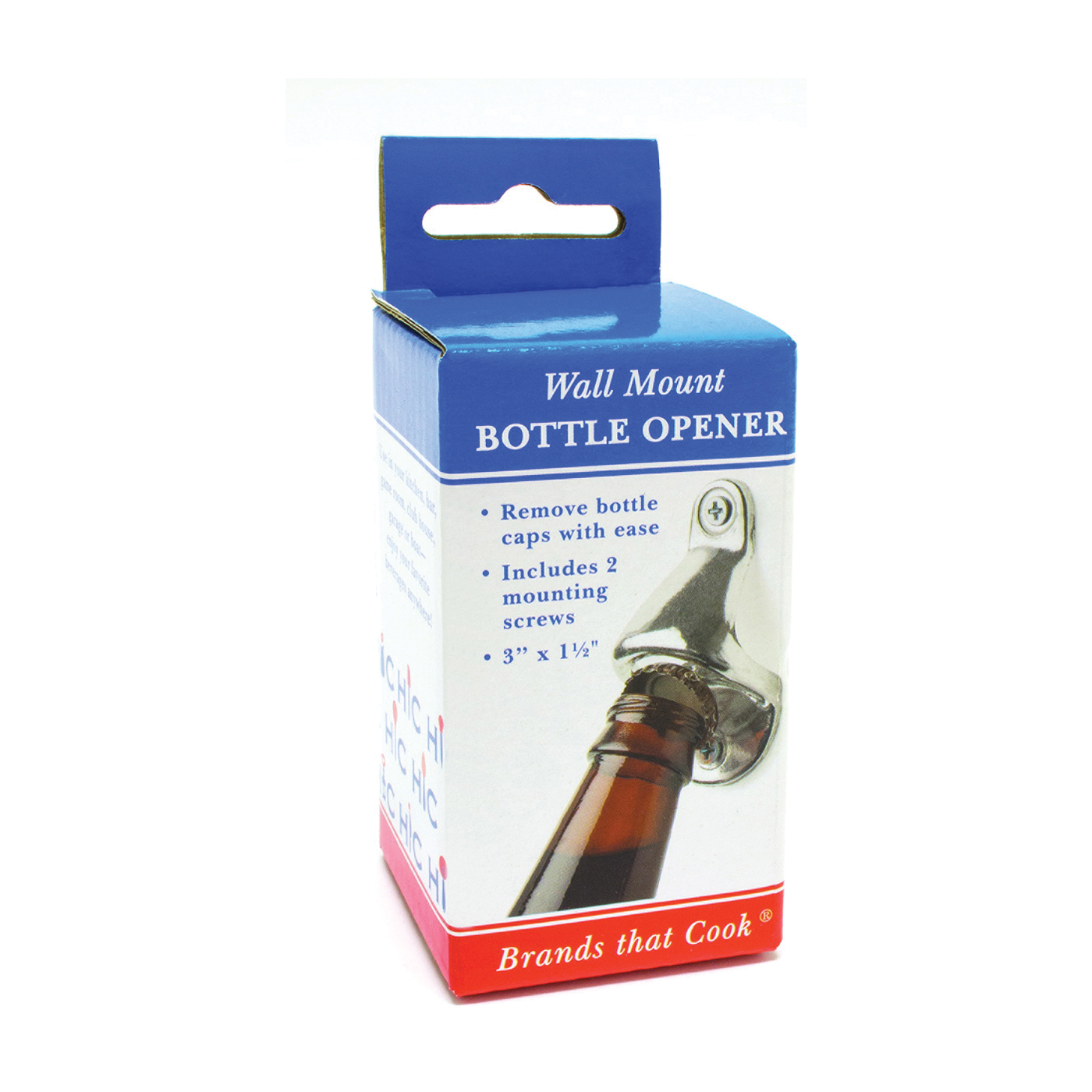 Picture of HIC 43742 Bottle Opener, Aluminum, 3 in OAL