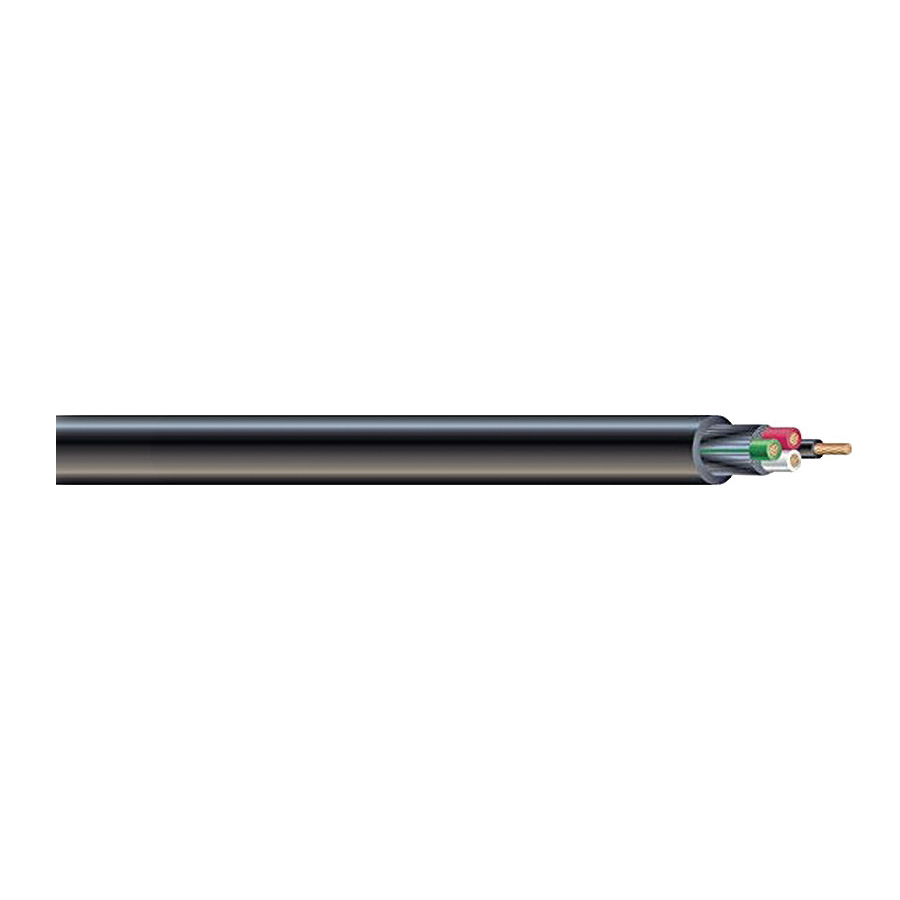 Picture of Southwire 55039401 Power Cord, 10 AWG Wire, Copper Conductor, TPE Insulation, TPE Sheath, Black Sheath, 250 ft L