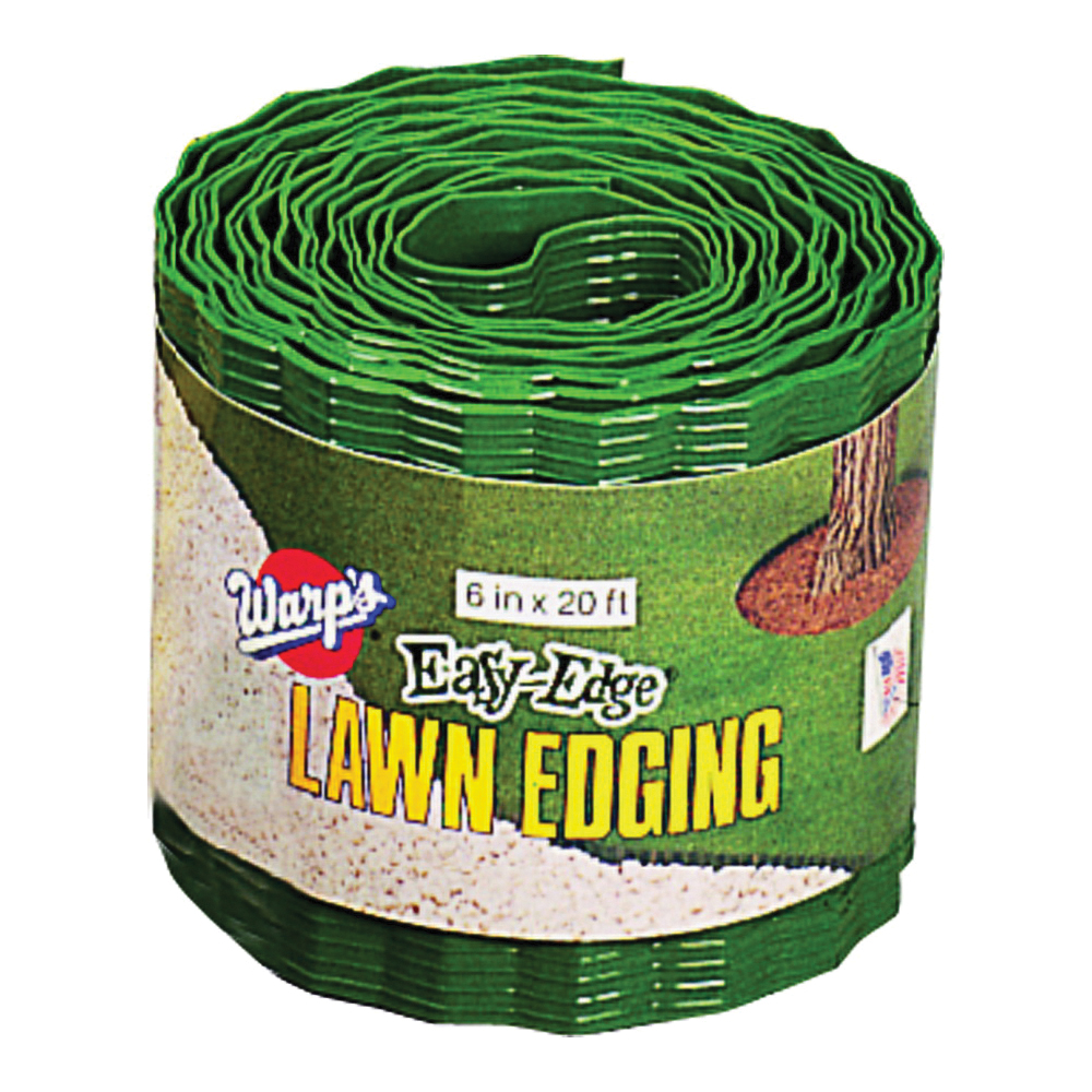 Picture of Warp's Easy-Edge LE-620-G Lawn Edging, 20 ft L, 6 in H, Plastic, Green