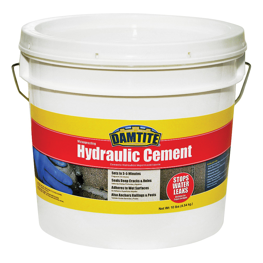 Picture of DAMTITE 07121 Hydraulic Cement, Powder, 10 lb Package, Pail
